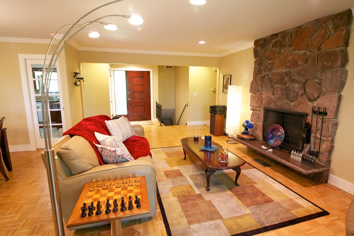 Share the main living space with the hosts, have a game of chess on handmade board