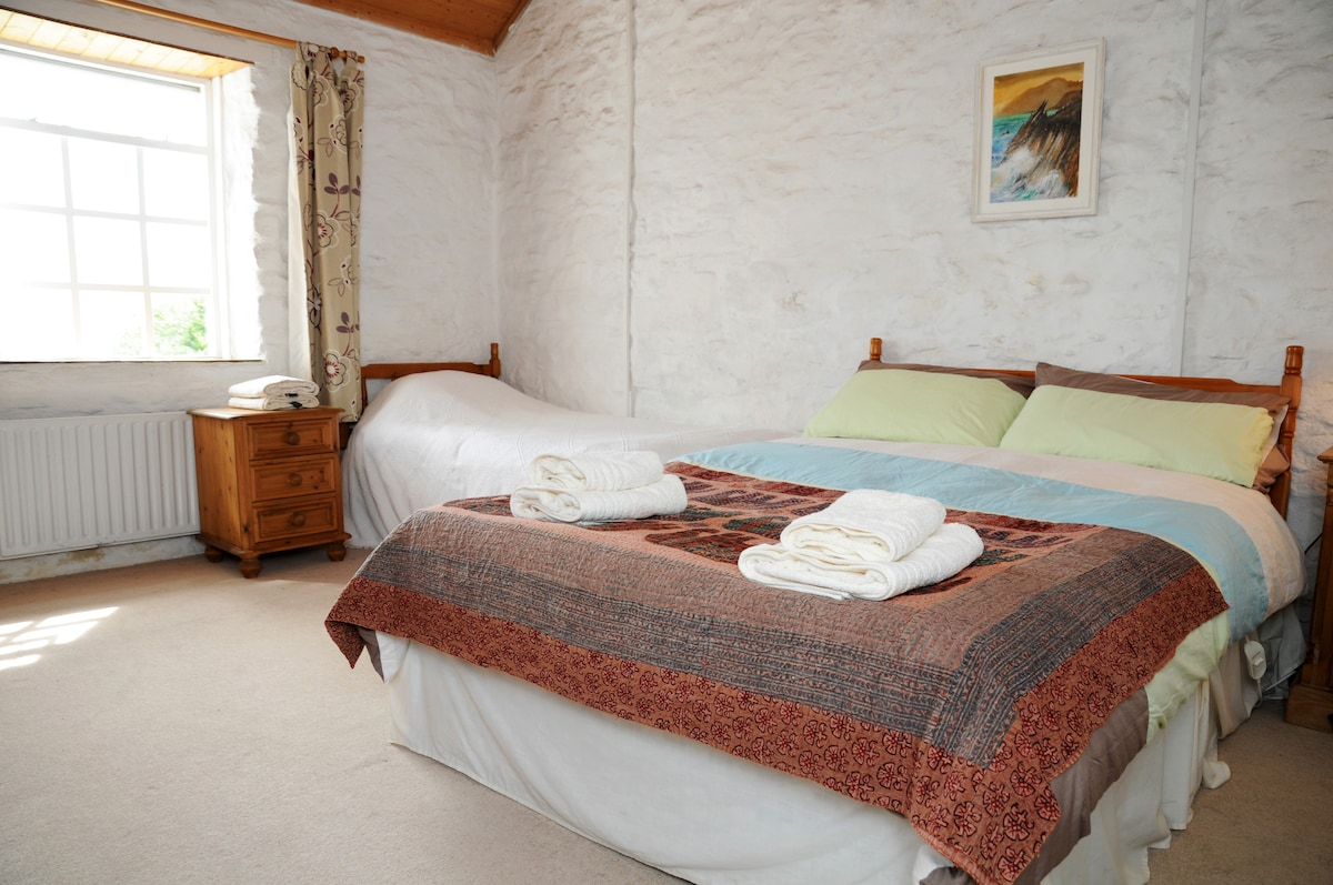 Another view of the main bedroom which has views of the Kerry Mountains near Killarney