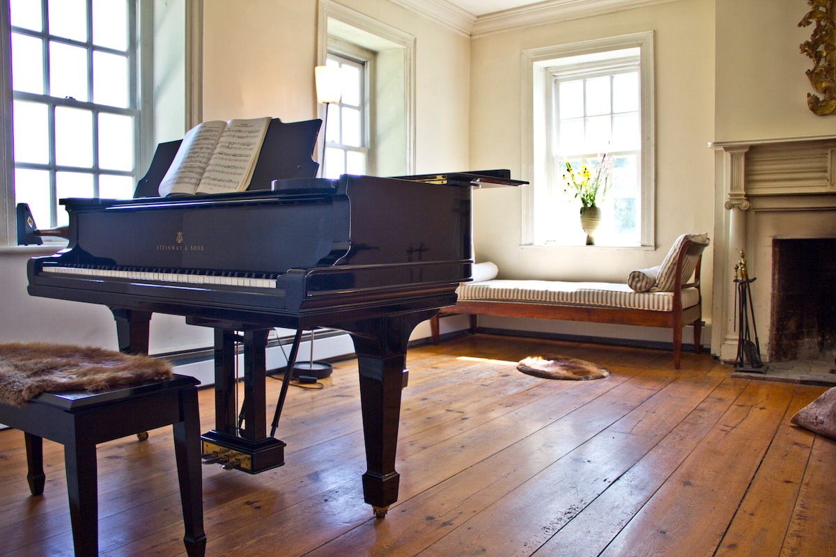 Steinway grand concert piano in the living room