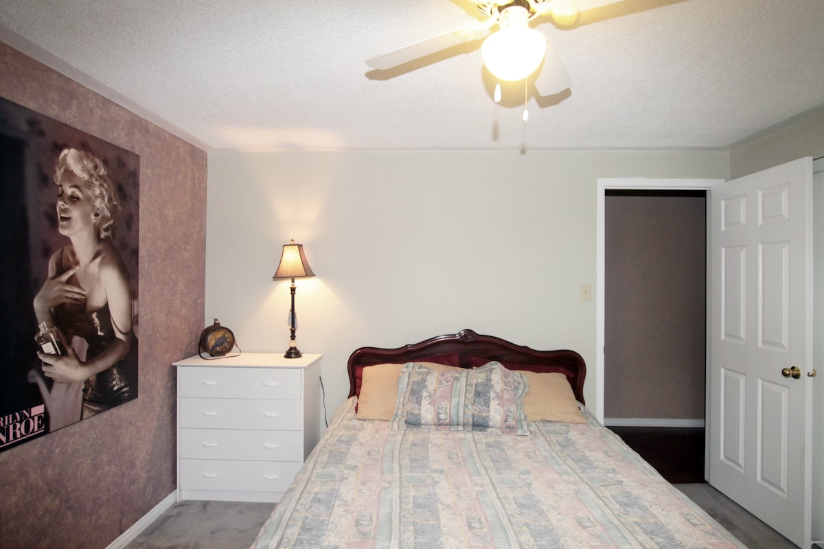 This is your large, quiet and comfortable bedroom.
