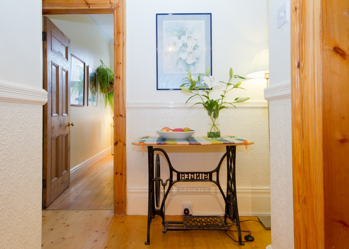 Hallway leading to dining room