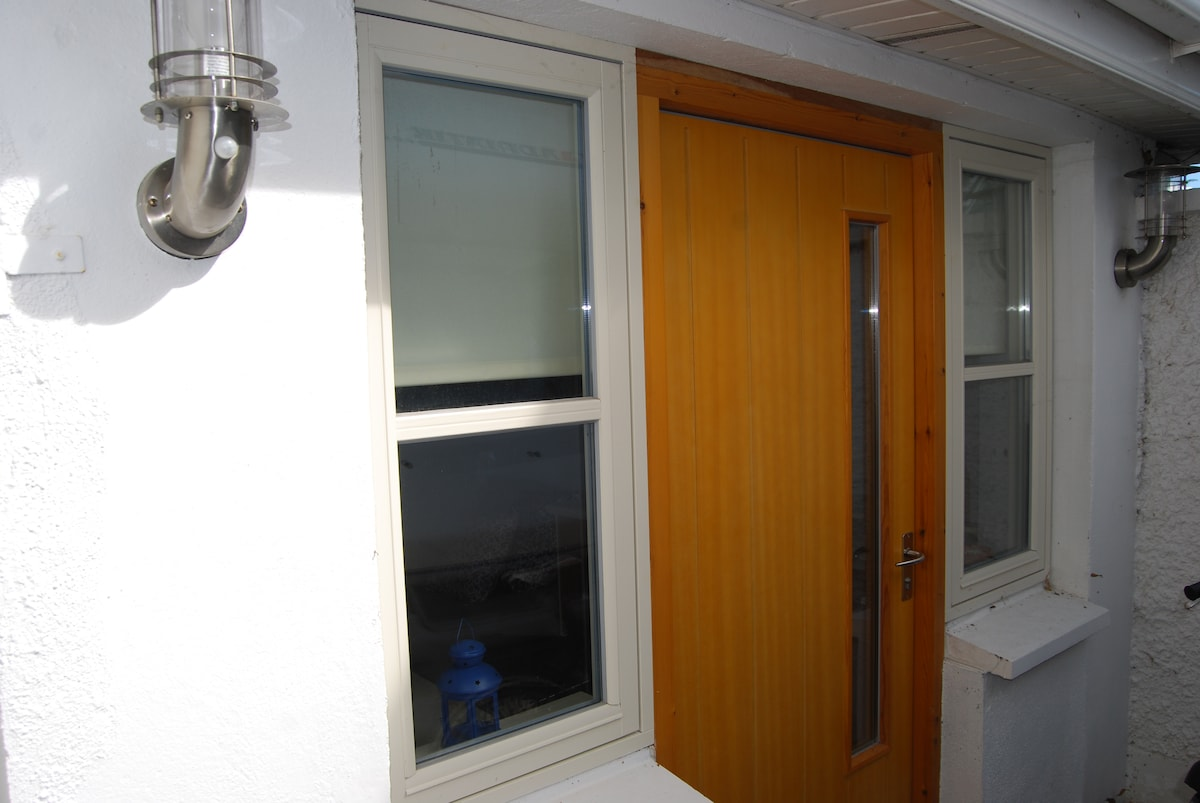 own private  entrance which is very secure