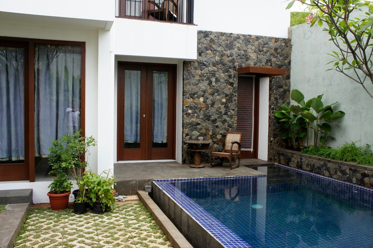 A tropical house in Central Jakarta