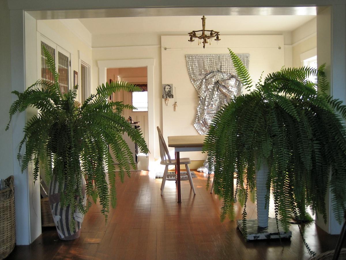 View through Patti's studio to kitchen.