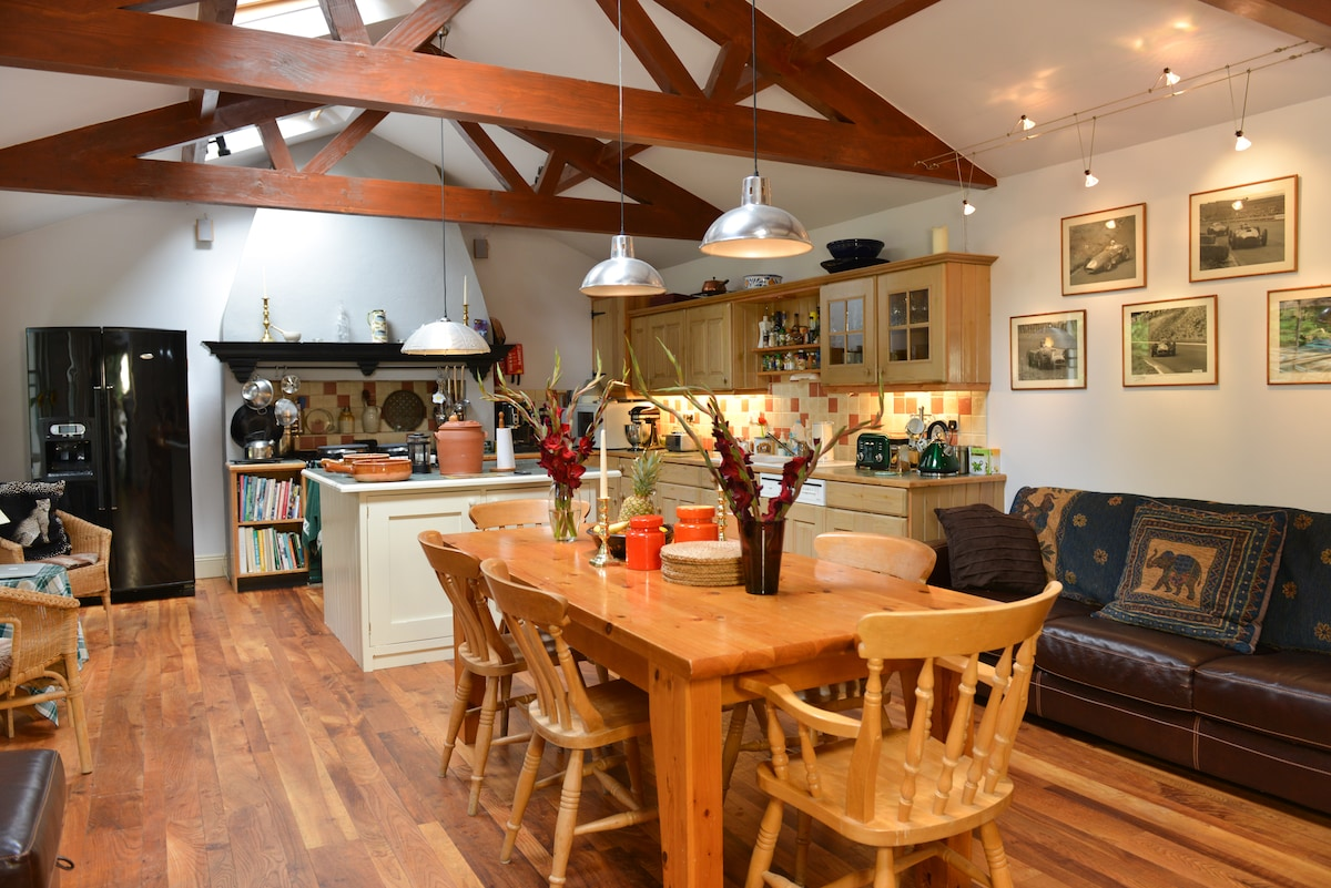 Take your time over breakfast in our AGA cosy kitchen