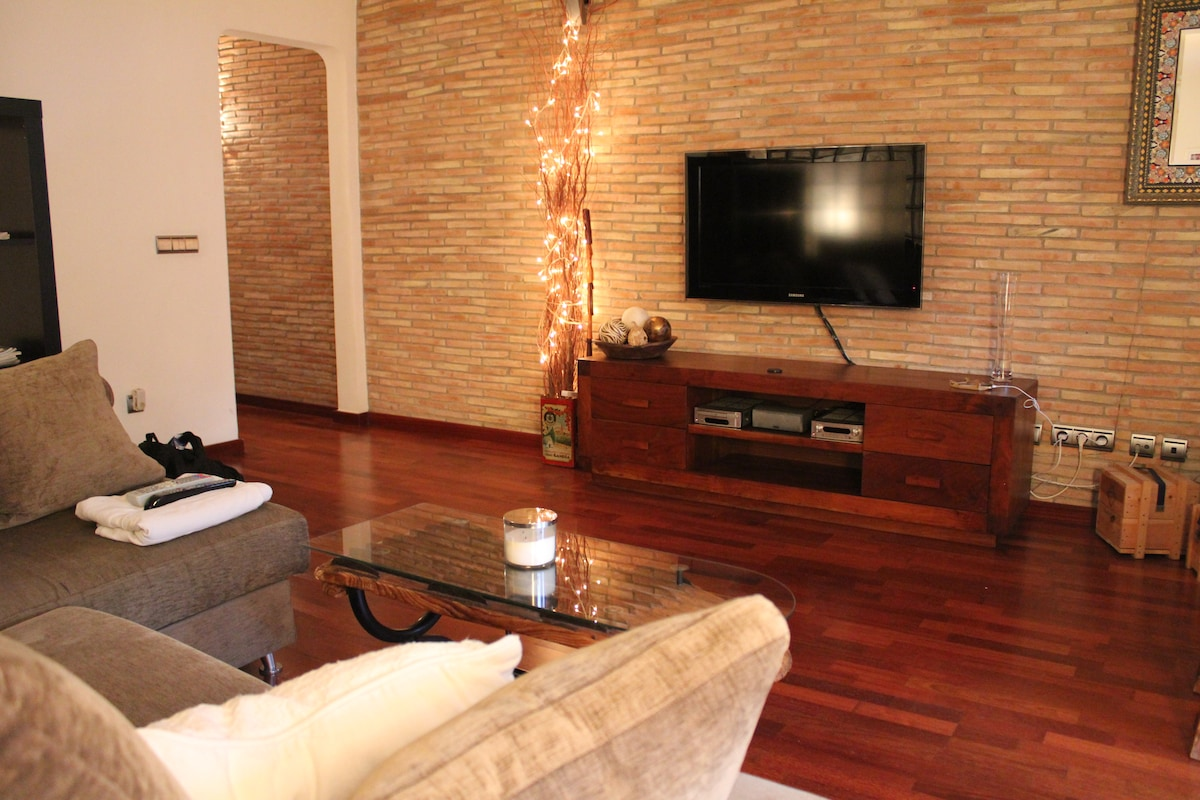 40¨ TV with sound system just in case that you want to stay at home!