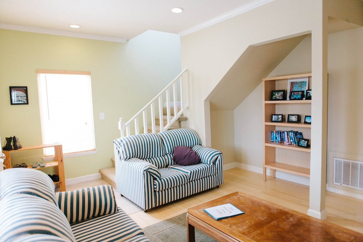 Light, bright, open living area