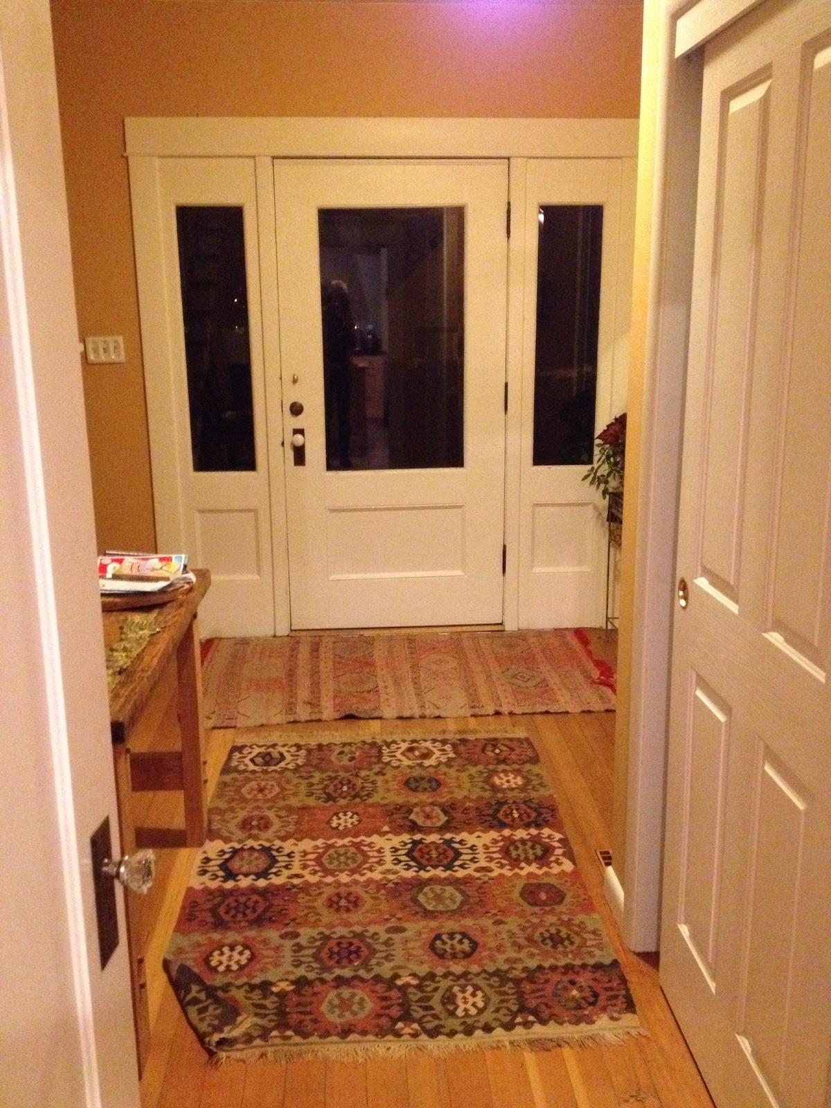 Private, sunny room in farmhouse