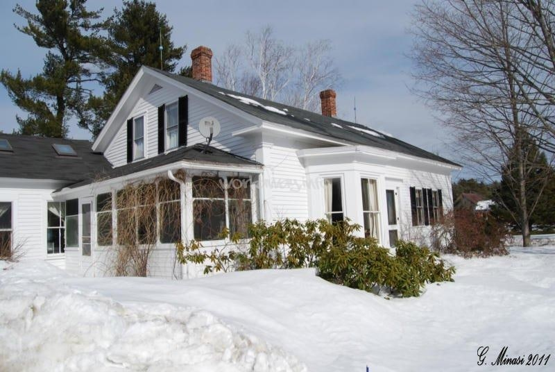 Front of farm house in Winter