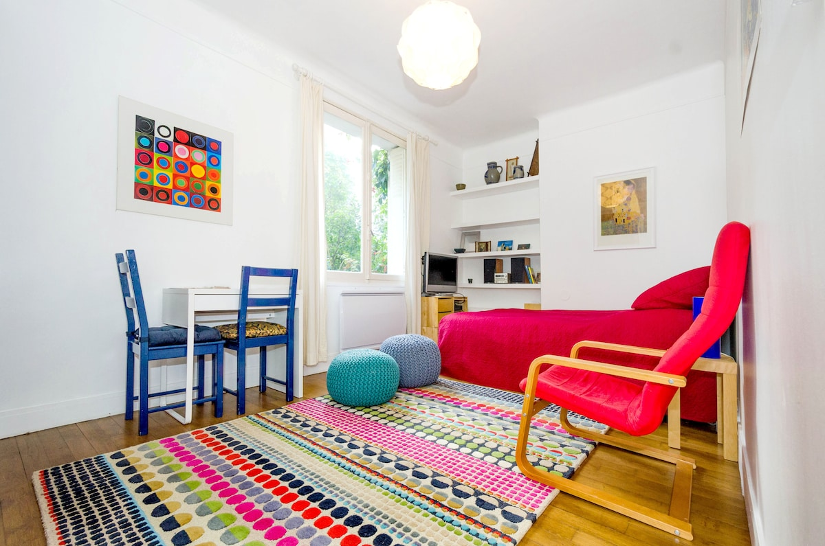 Sunny and colorful living room