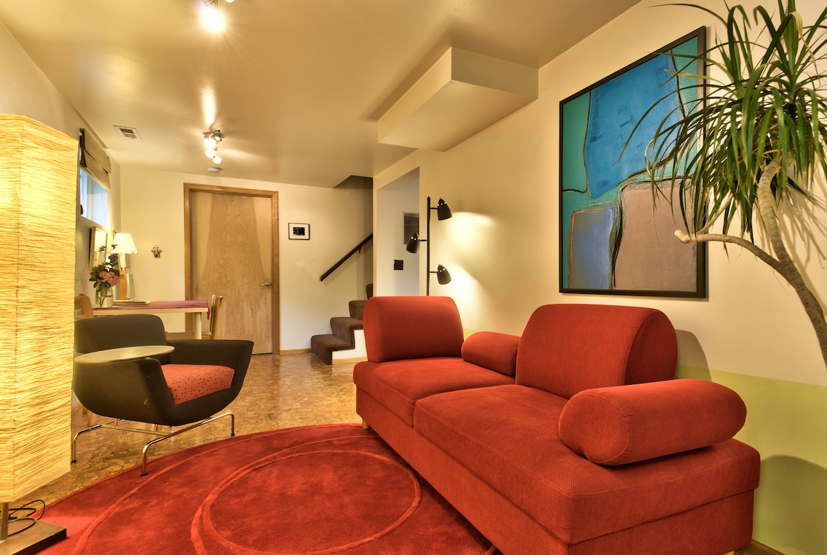 Modern furniture and art welcome you to your private apartment