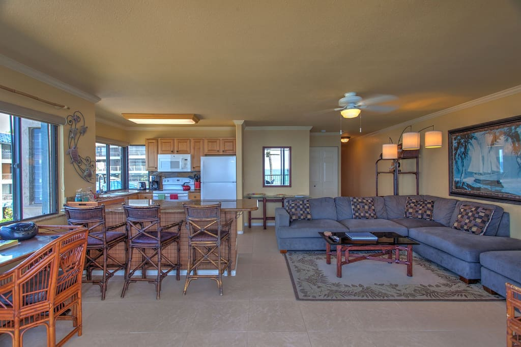 Living/Kitchen Area view from Lanai