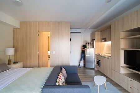 STUDIO NOVO, MODERNO E ACOLHEDOR NO CORAÇÃO DE SP - São Paulo - Apartment