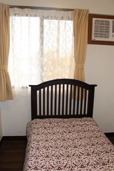 Bedroom 2  with single bed, extra single foam, Air-condition  and wardrobe cabinet