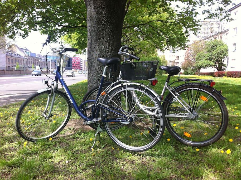 Zur FREIRAUMWOHNUNG gehören 2 Citybikes die unsere Gäste gerne nutzen dürfen. Wir sind immer bemüht sie Räder fit zu halten. Das ist aber nicht immer möglich. Daher: Ohne Gewähr. Die Fahrräder sind nicht teil des FeWo-Mietvertrags!