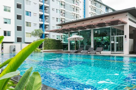 New Near MRT 1BR Kitchen Pool Fitness Quiet&Safe - Kondominium