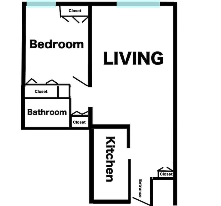 Here's the layout of your future vacation home. Very spacious!
