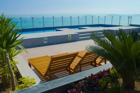 ★SEA VIEW APT near AIRPORT ❤️ Brand New★ - San Miguel - Byt