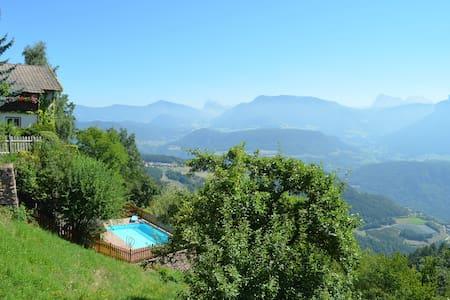 Chalet Villa Stefania Dolomit view Swimmingpool - House