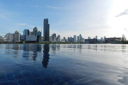 Infinity swimming pool with super view. MRT, WIFI - Bangkok - Apartment