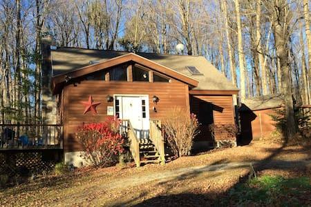 Nemchek's Vermont Log Cabin - Sunderland - Stuga