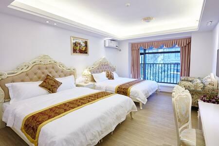 广州小时代长隆国际主题旅游度假酒店公寓欧式豪华双床房