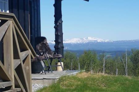 Nydelig hyttetun med fantastisk utsikt  1050 moh - Chalet