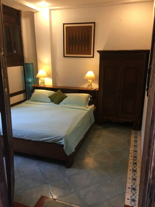 Double bedroom within joglo