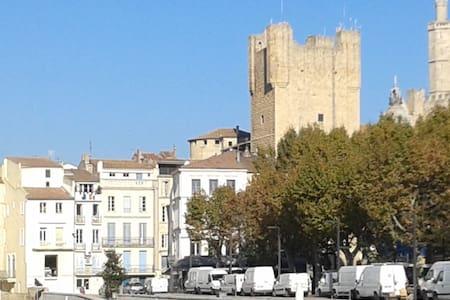 Grand appartement centre historique avec vue - Narbonne - Wohnung