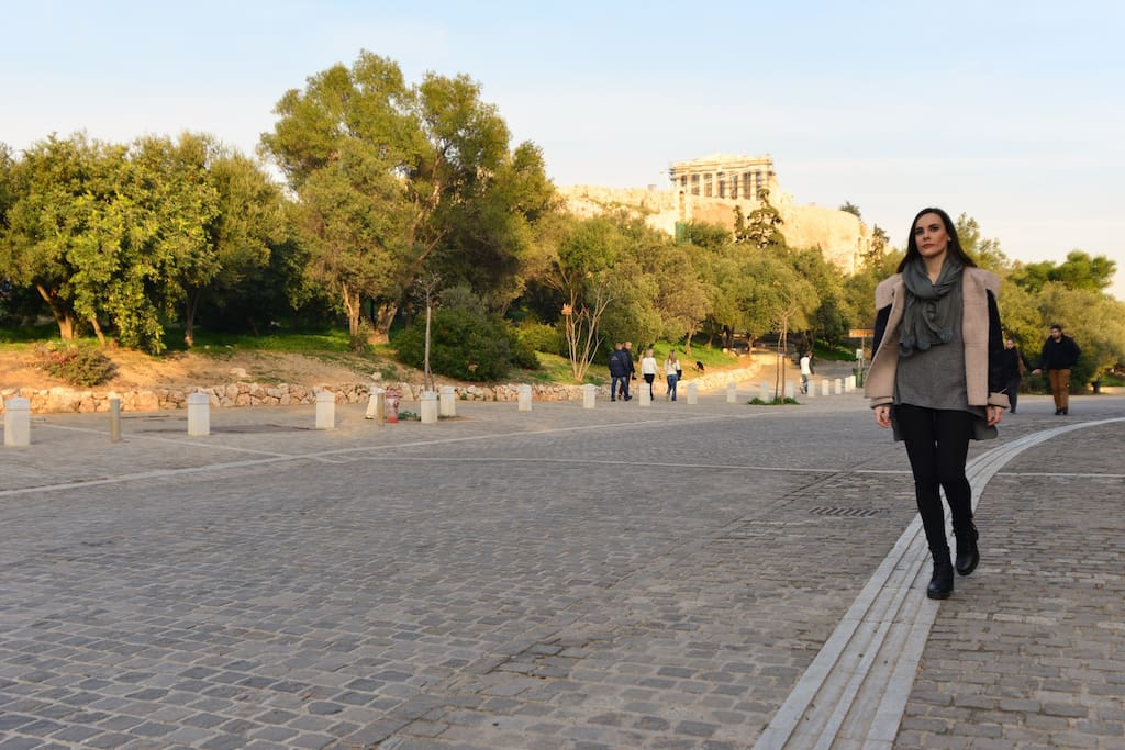 Acropolis is only 5-6 minutes walking distance from the apartment
