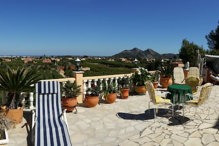 Large panoramic terrace with swimming pool - Villa