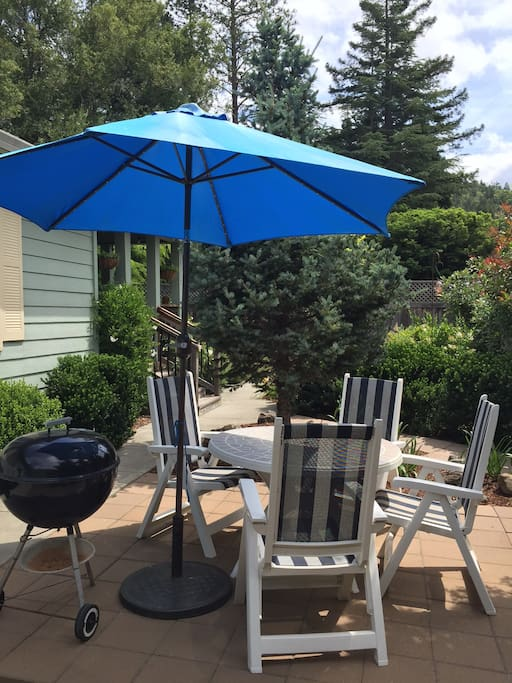 Enjoy the patio and outdoor dining.