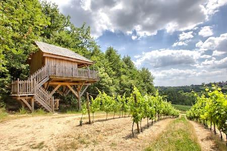 Cabane dans les arbres aux portes de Bordeaux - Arbis - Srub