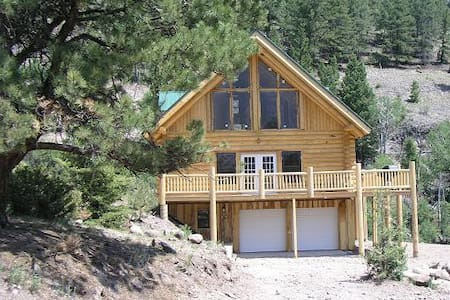 Mtn house river frontage waterfall view 9k' all yr - Lake City - House