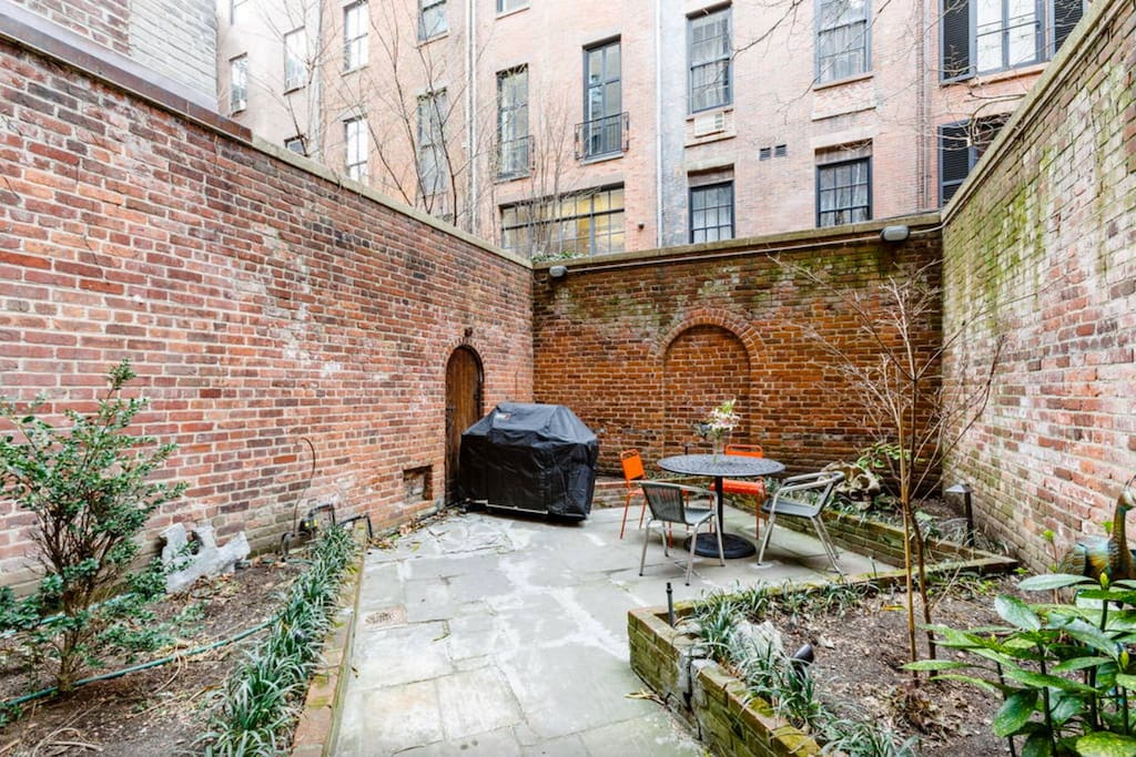 Garden Patio, complete with Grill for Summer Cookouts