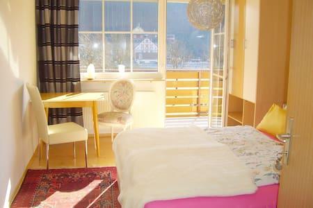 Lust auf Land ? Schönes Zimmer mit Balkon - Huis