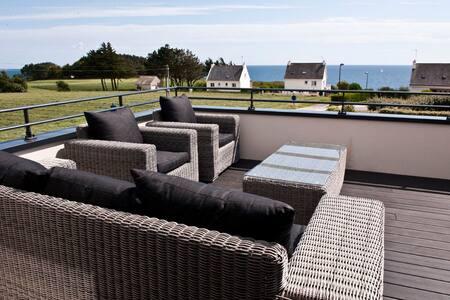 Villa  5 * Haut de gamme - A 200m de la côte. - Clohars-Carnoët