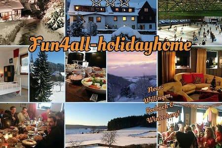 Fun4all-holidayhome für 10-22Personen,Helle Zimmer - Medebach - Condominium
