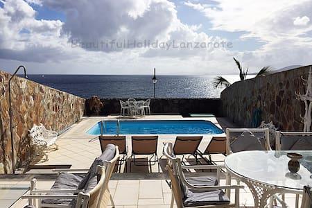 Villa Medusa mit Meerblick & Meerwasser-Pool - Yaiza - Villa
