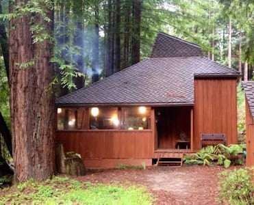 Nestled in a Redwood Canyon on a Babbling Creek! - Big Sur - Cabane