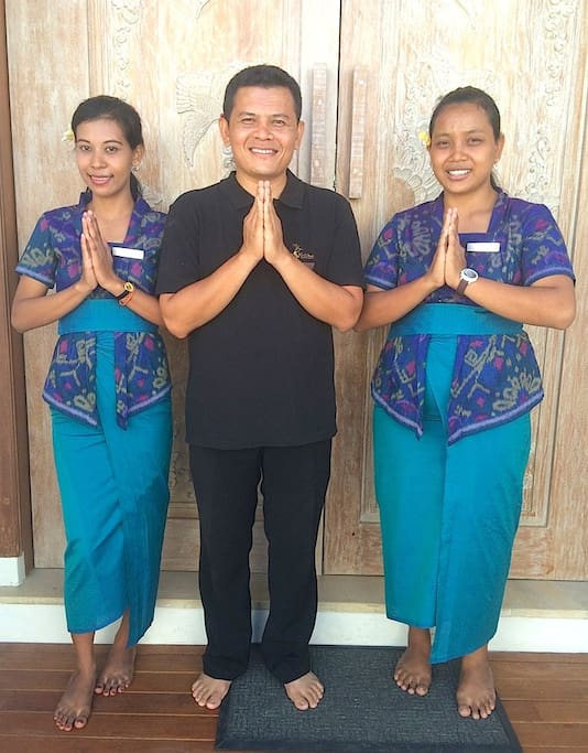 Welcome! The wonderful staff - Made (your manager) and our gorgeous housekeepers Kadek & Wayan