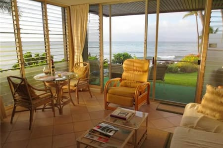 Ocean Front - Mahina Surf 128 (One Bedroom One Bath Oceanfront) - Wohnung