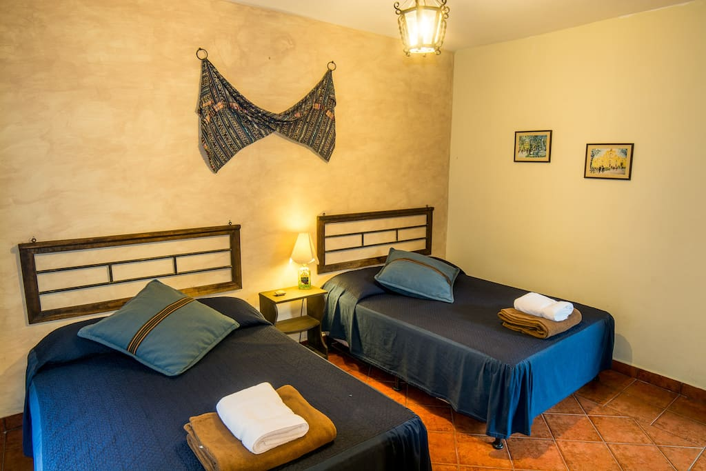 Private bedroom, ample room perfect for couples and groups up to four people