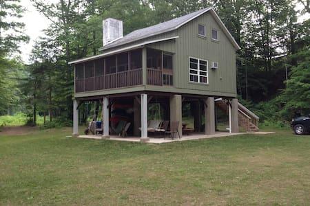 Cabin overlooks Loyalsock Creek