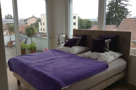 Quiet+centrally located+spacious+romantic balkony - Zürich - Apartment