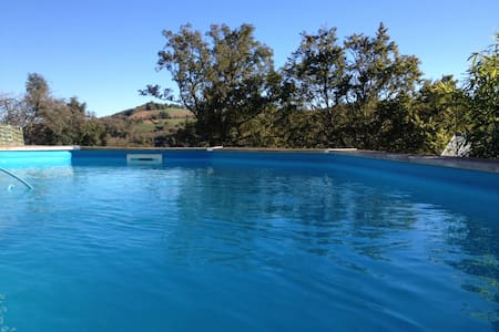 Studio avec piscine privée dans hameau verdoyant - Apartamento