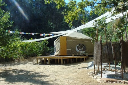 Star Gazing Luxury Yurt with private view of lake - Pedrogao grande