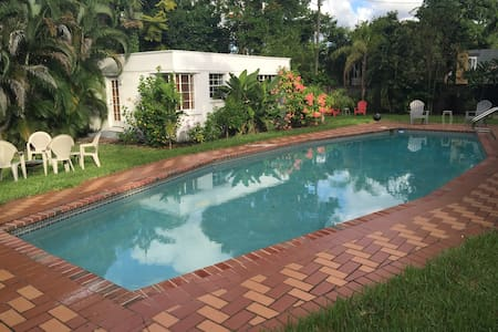 Guest cottage/pool/tropical yard - Miami Springs - Huis