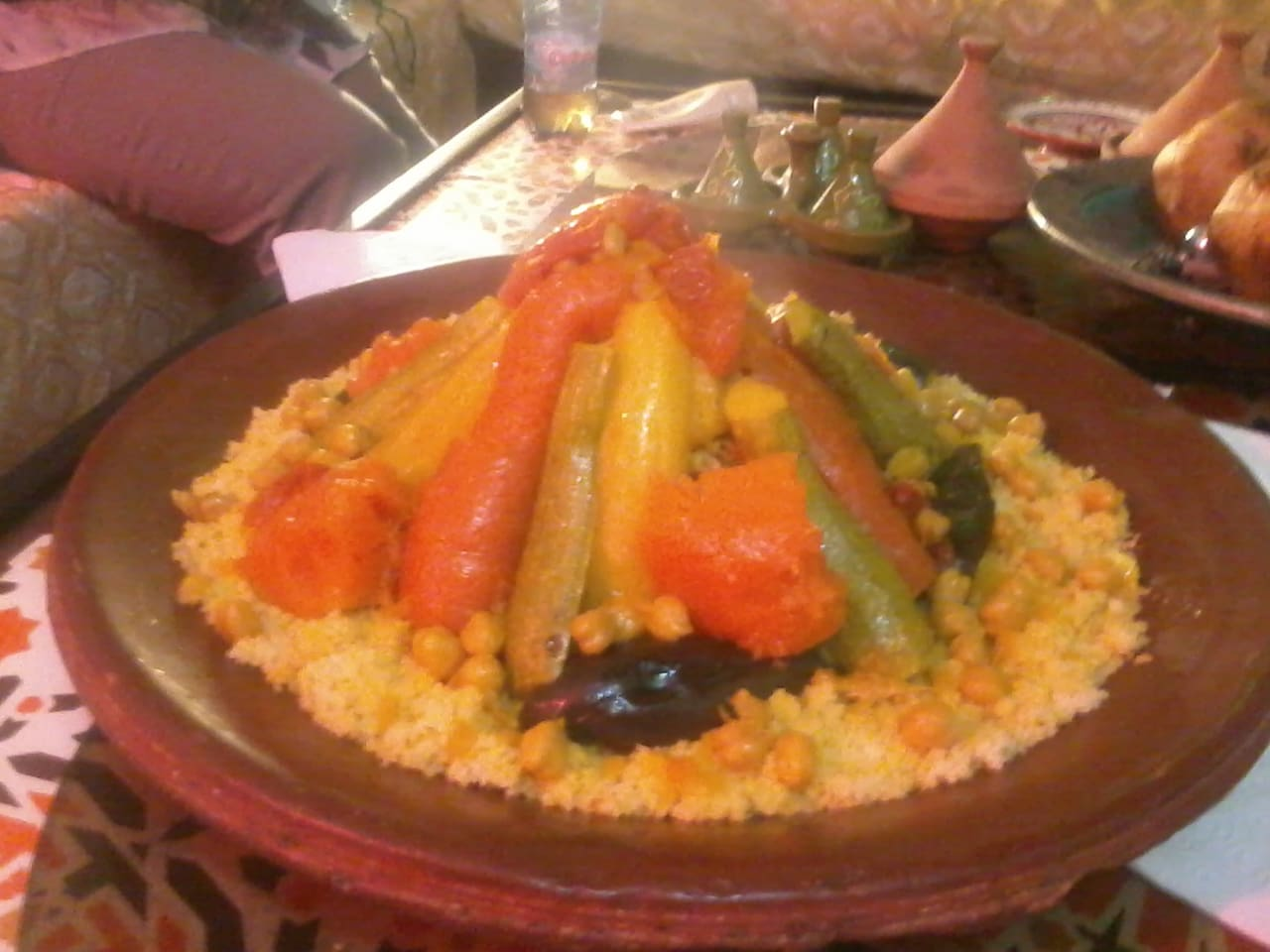 I cook cous cous for my guests on a friday!