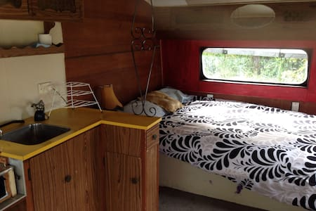 Rustic Surf Van by the Beach - Raglan - Cabin
